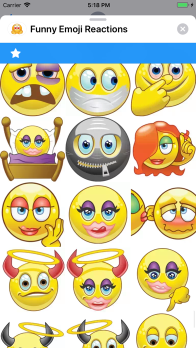Screenshot for Funny Emoji Reactions in United States App Store