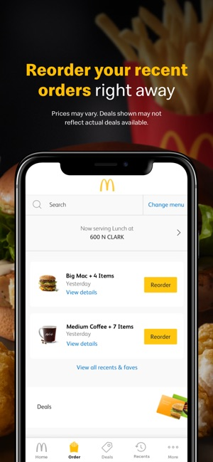 McDonald's on the App Store