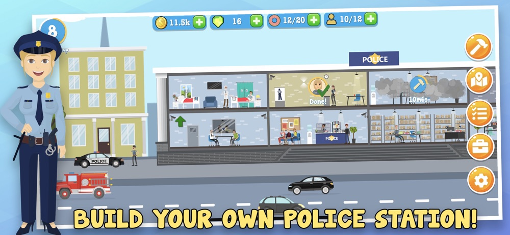 Police Inc: Tycoon sim game Cheat Codes