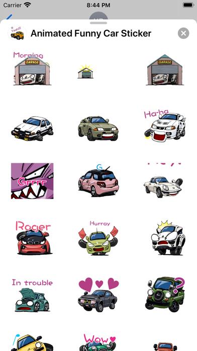 Animated Funny Car Sticker screenshot 2