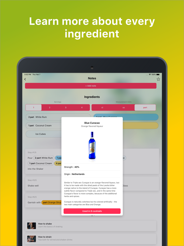 ‎Cocktail Flow - Drink Recipes Screenshot