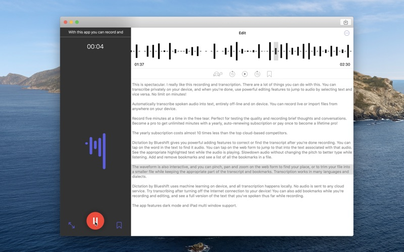 Dictation by Blueshift for Mac
