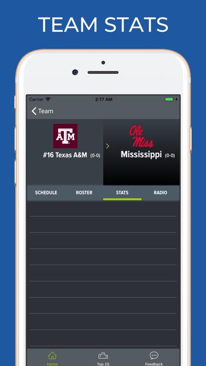 Mississippi Football Schedules screenshot-3