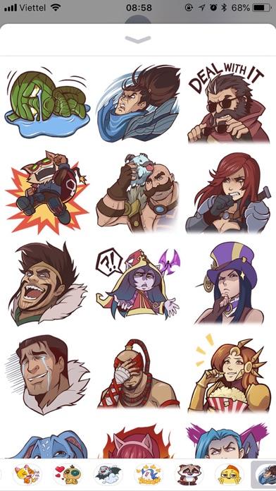 Screenshot #1 pour Legends Emoji Funny Stickers