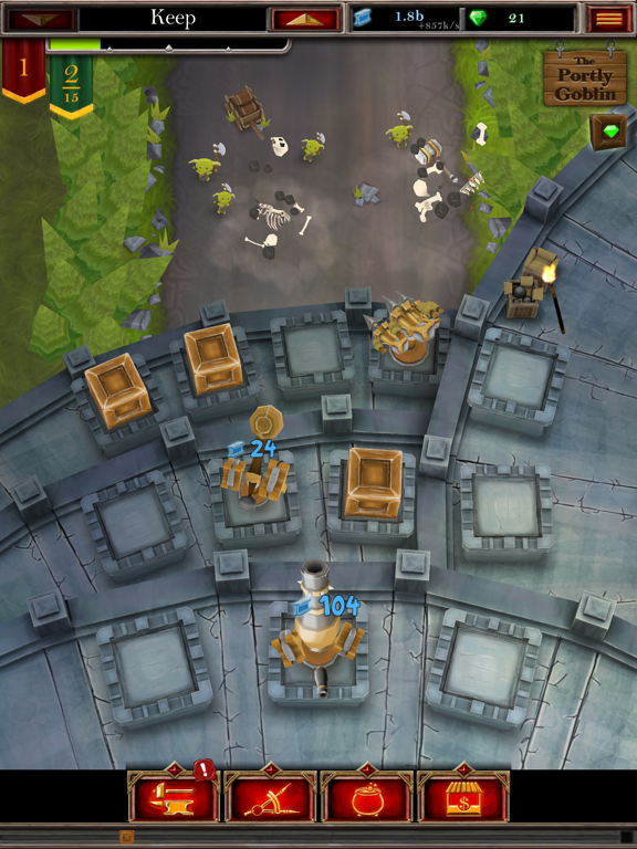 Castle Fusion Idle Clicker для iPad