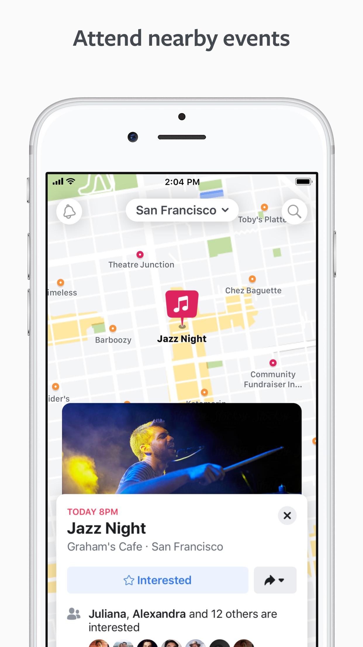 Screenshot do app Facebook Local