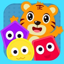 形状与颜色—宝宝思维训练涂色游戏