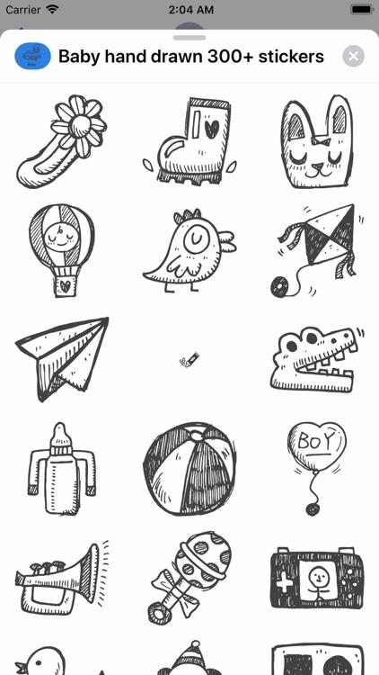 Baby hand drawn 300+ stickers screenshot-7