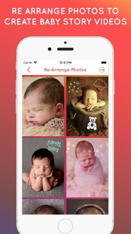 Baby Story Photo Video Maker screenshot-4