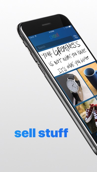 pxsell: buy and sell furniture, appliances, other new and used stuff, and resell your second hand stuff in your local neighborhood screenshot
