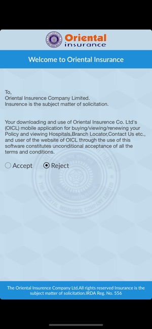 Oriental Insurance On Mobile On The App Store