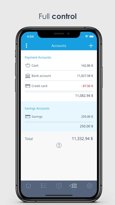 MoneyControl Spending Tracker Screenshot