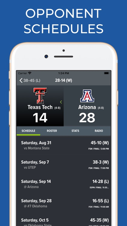 Arizona Football Schedules screenshot-7