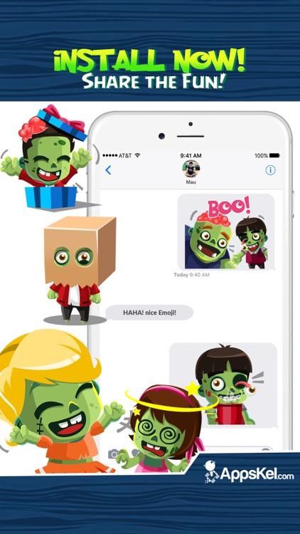 Zombies Emoji Stickers App screenshot-4