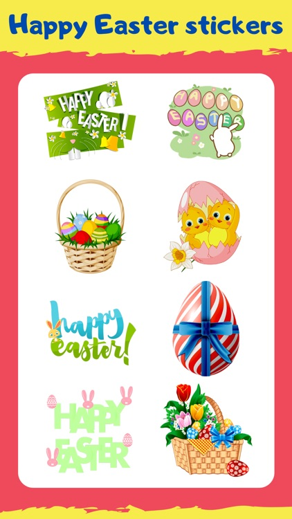 Happy Easter Emoji Stickers !