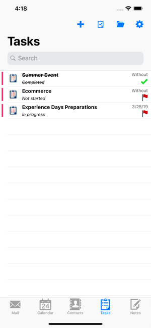 ‎ISEC7 Mobile Exchange Delegate Screenshot