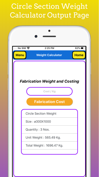 Fabrication Weight Calc Pro screenshot 4