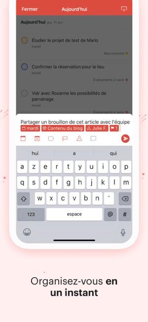 Todoist : To-do list et rappel Capture d'écran