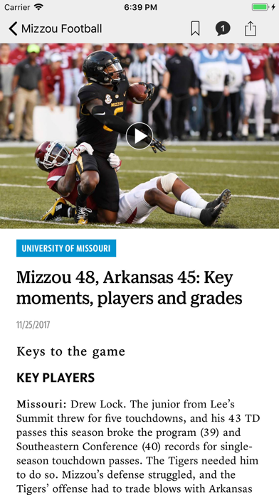 Mizzou Zone Screenshot
