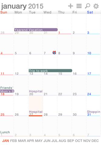 iXalendar - Simple Calendar - náhled