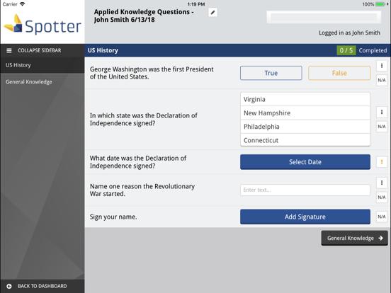 Spotter Inspection App screenshot