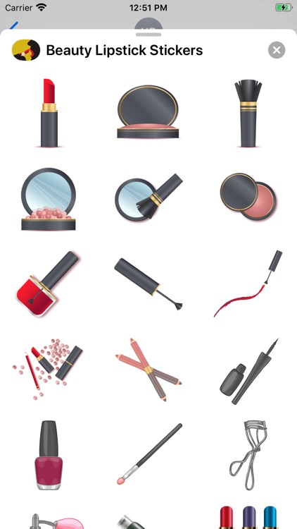 Beauty Lipstick Stickers