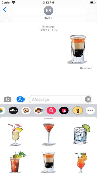 Bartender Cocktail Stickers screenshot 1