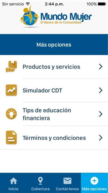 Banco Mundo Mujer screenshot-6
