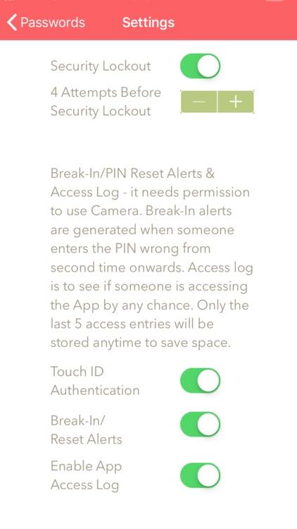 Password Privacy Organizer Pro screenshot-7