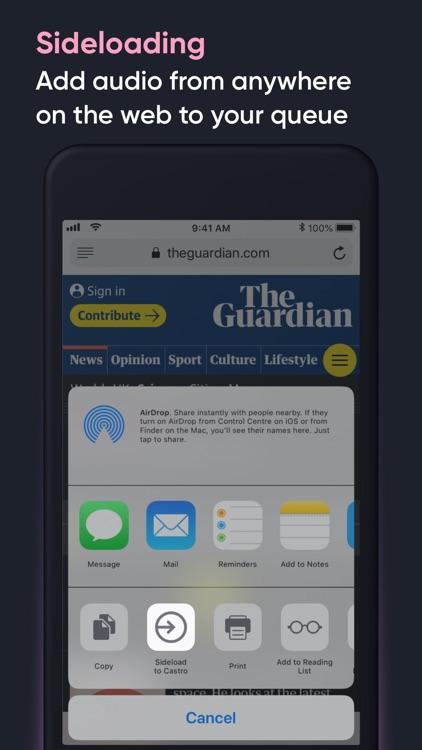 Castro Podcast Player screenshot-6