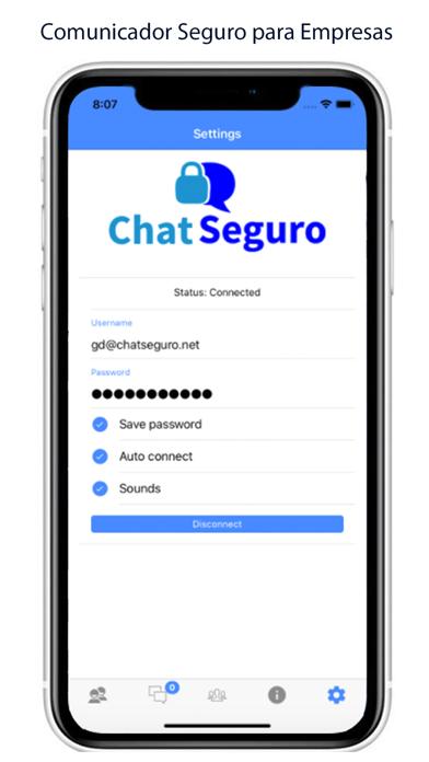 Screenshot of Chat Seguro1