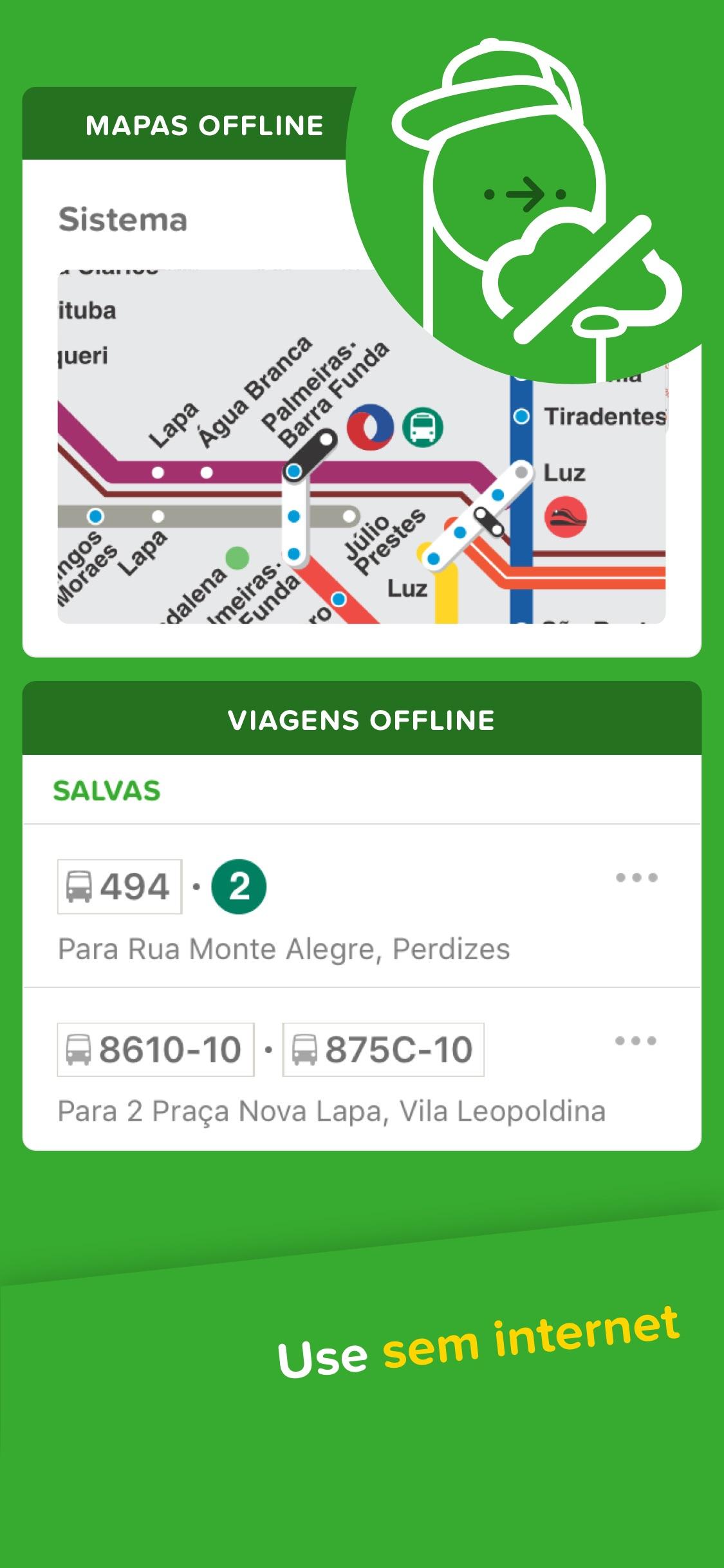 Screenshot do app Citymapper - São Paulo