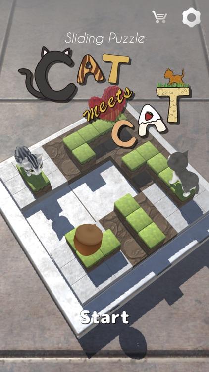 Cat Meets Cat - Sliding Puzzle screenshot-0