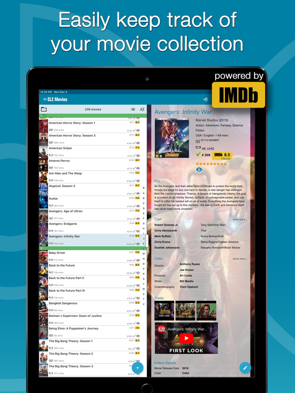 Screenshot #4 pour CLZ Movies - movie cataloging