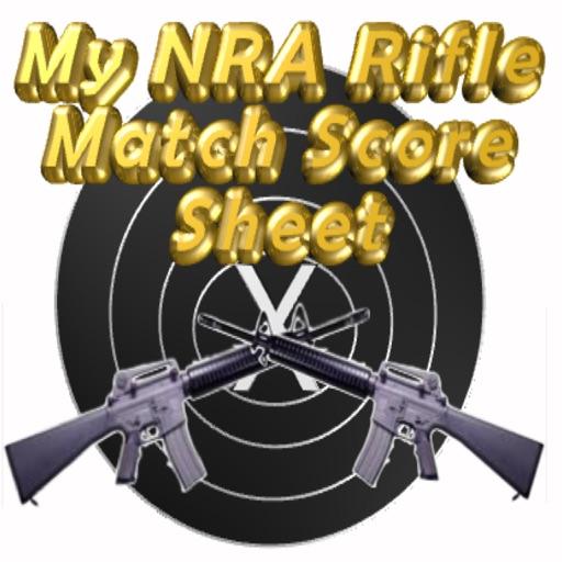 My NRA Rifle Match Score Sheet