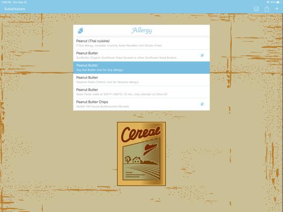 Substitutions Screenshots