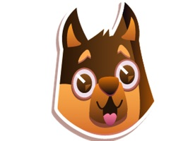 Awaken your iMessages for funny emotion with this exclusive Duddy Dog Excited Sticker pack
