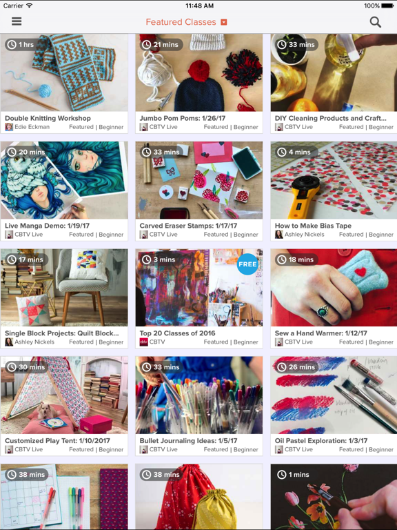 Creativebug – Top designers and crafters teaching world class workshops. screenshot