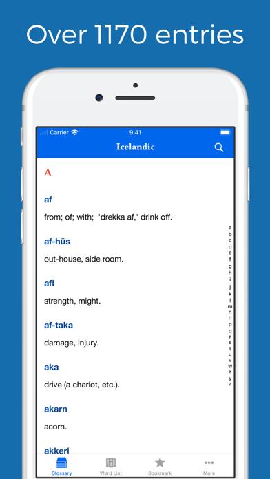 Icelandic Glossary screenshot one