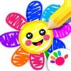 お絵かき 子供 ゲーム ペイント 数字 幼児 色ぬり アプリ