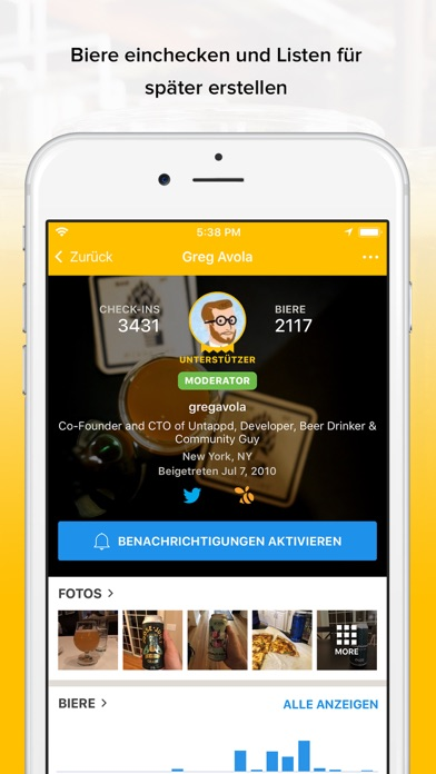 Screenshot for Untappd - Discover Beer in Germany App Store