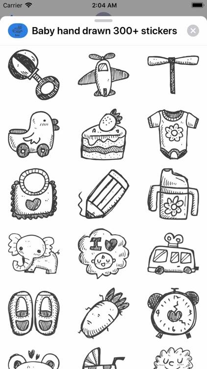 Baby hand drawn 300+ stickers screenshot-9