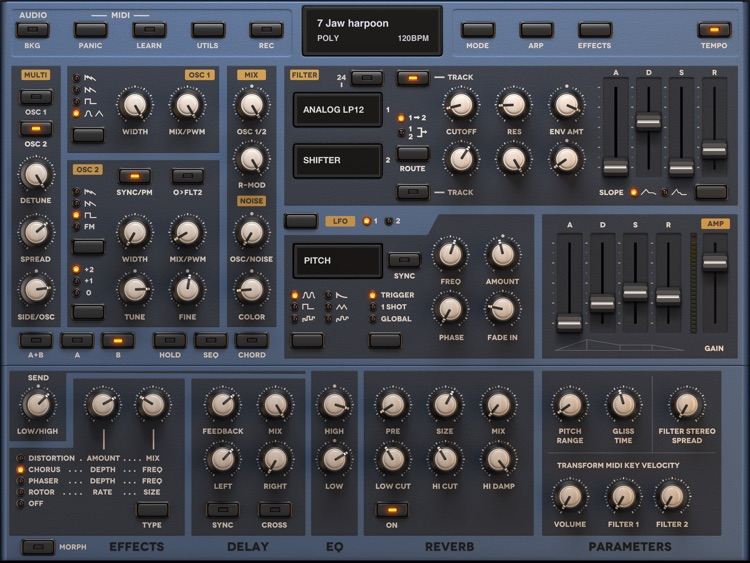 Sunrizer synth screenshot-2