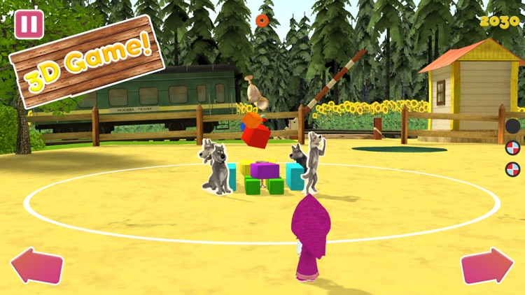 Masha and the Bear:Ball game3D screenshot-5