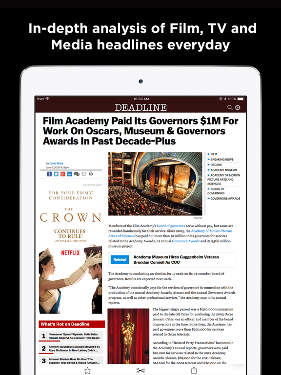 Deadline Hollywood News screenshot