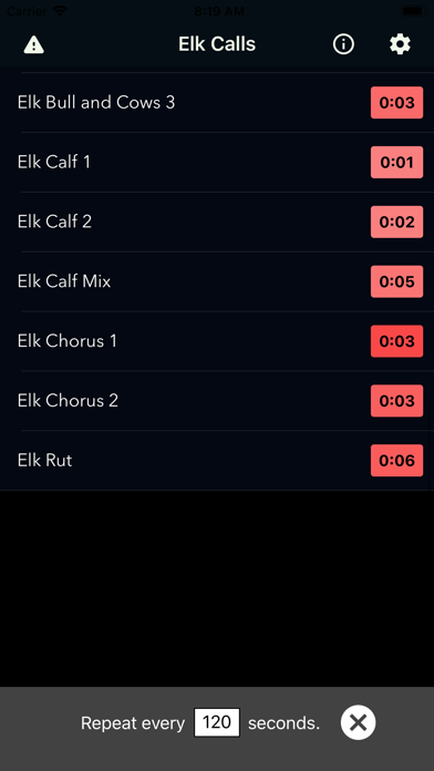 Elk Calls & Hunting Sounds screenshot 2