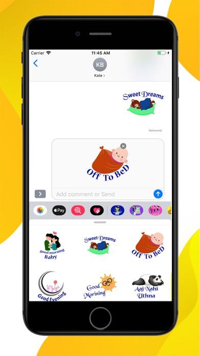 Daily Greetings Hindi Stickers screenshot 3