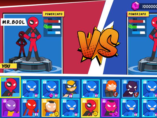 iPad Image of Stick Superhero: Offline Games