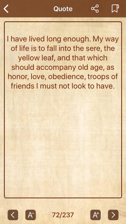 William Shakespeare Quote screenshot-3
