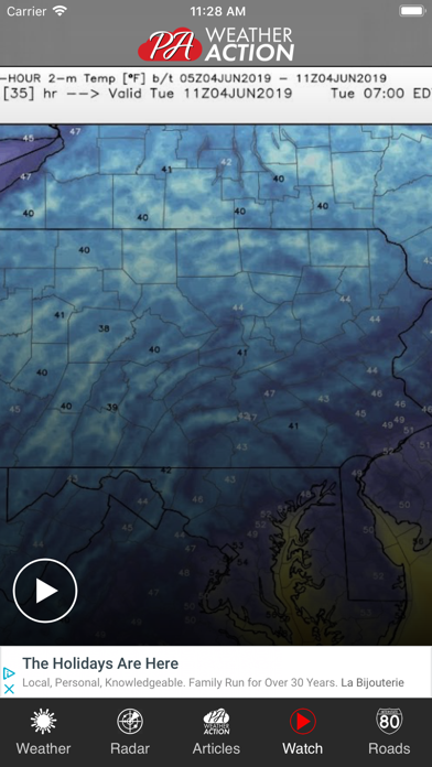 Screenshot for PA Weather in United States App Store